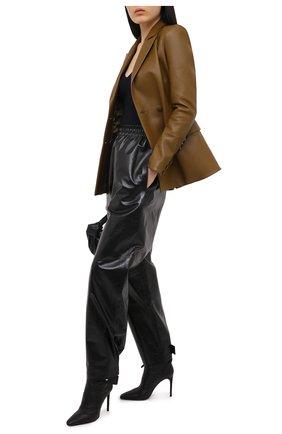 Женские кожаные ботильоны OFF-WHITE черного цвета, арт. 0WIA233E20LEA0011000 | Фото 2