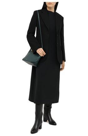 Женские кожаные сапоги SANTONI черного цвета, арт. WSXG59039HI1Q0TDN01 | Фото 2