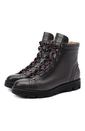 Женские кожаные ботинки SANTONI серого цвета, арт. WTUD58933SM0NLESG23 | Фото 1