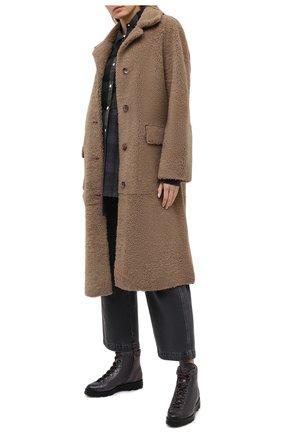 Женские кожаные ботинки SANTONI серого цвета, арт. WTUD58933SM0NLESG23 | Фото 2