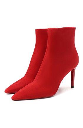 Женские кожаные ботильоны SANTONI красного цвета, арт. WTA058951HA2TLKSR40   Фото 1