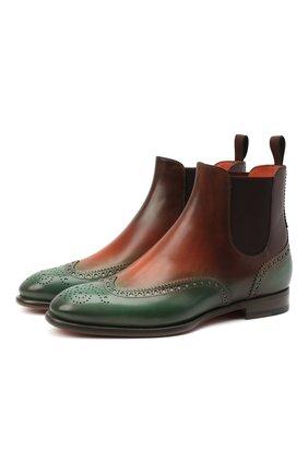 Женские кожаные ботинки SANTONI зеленого цвета, арт. WTGY58820BA1NLHRA70 | Фото 1