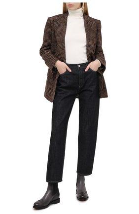 Женские кожаные ботинки SANTONI серого цвета, арт. WTWK58153SMCDLESG23 | Фото 2