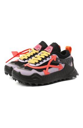 Женские комбинированные кроссовки odsy-1000 OFF-WHITE черного цвета, арт. 0WIA180F20FAB0011032 | Фото 1