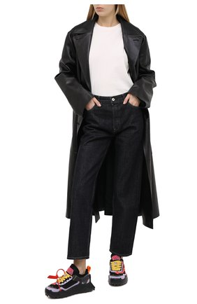 Женские комбинированные кроссовки odsy-1000 OFF-WHITE черного цвета, арт. 0WIA180F20FAB0011032   Фото 2