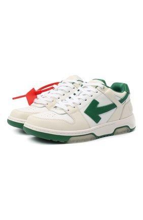 Женские кожаные кроссовки OFF-WHITE белого цвета, арт. 0WIA259F20LEA0010155 | Фото 1