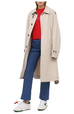 Женские кожаные кроссовки OFF-WHITE белого цвета, арт. 0WIA259F20LEA0010155 | Фото 2