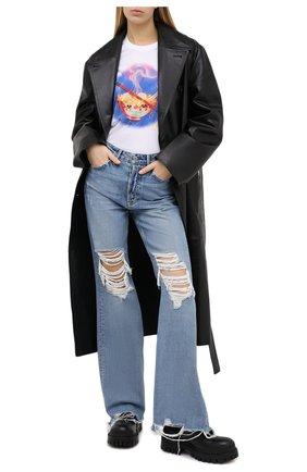Женские джинсы GRLFRND синего цвета, арт. GF40458771389 | Фото 2
