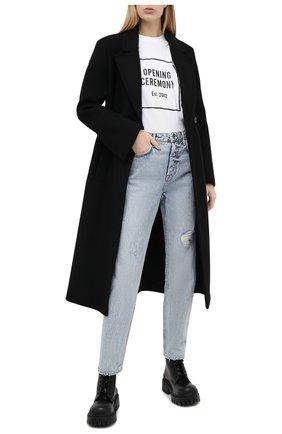 Женские джинсы GRLFRND голубого цвета, арт. GF41768501387 | Фото 2