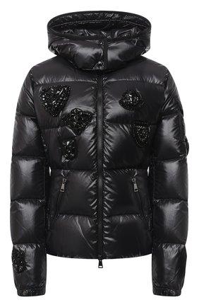 Женский пуховая куртка MONCLER черного цвета, арт. F2-093-1A51A-20-C0064 | Фото 1