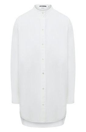 Женская хлопковая рубашка JIL SANDER белого цвета, арт. JSX0600205-W0244300   Фото 1
