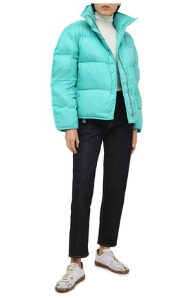Женский пуховая куртка ACNE STUDIOS бирюзового цвета, арт. A90298 | Фото 2