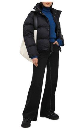 Женский пуховая куртка ACNE STUDIOS черного цвета, арт. A90298 | Фото 2