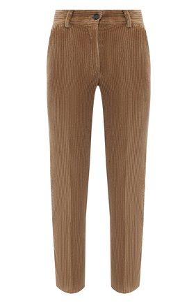 Женские хлопковые брюки DOLCE & GABBANA коричневого цвета, арт. FTAM2T/FUWC5 | Фото 1