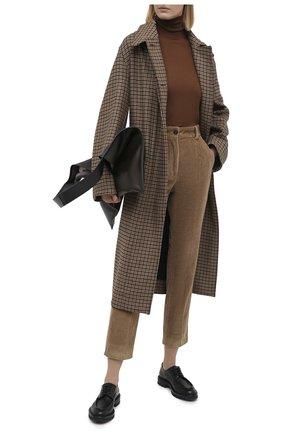Женские хлопковые брюки DOLCE & GABBANA коричневого цвета, арт. FTAM2T/FUWC5 | Фото 2
