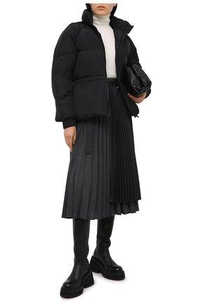 Женский пуховая куртка GANNI черного цвета, арт. F5401 | Фото 2