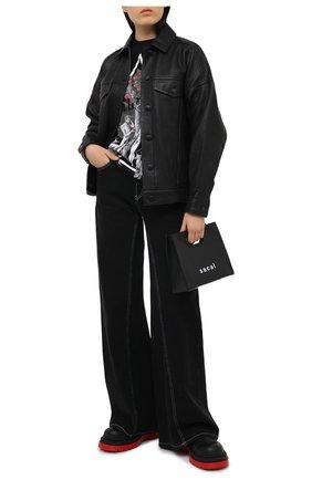 Женская хлопковый лонгслив CHRISTOPHER KANE черного цвета, арт. AW20 TS548 0RGANIC JERSEY | Фото 2
