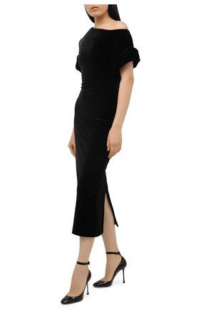Женское платье CHRISTOPHER KANE черного цвета, арт. CFW DR2582 491000 STRETCH VELVET | Фото 2