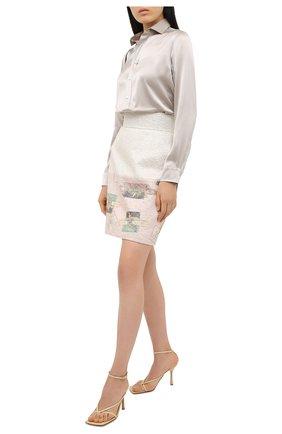 Женская шелковая рубашка POLO RALPH LAUREN серого цвета, арт. 211798122 | Фото 2