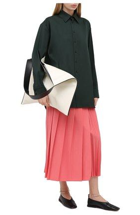 Женская шерстяная юбка JOSEPH розового цвета, арт. JP000987 | Фото 2