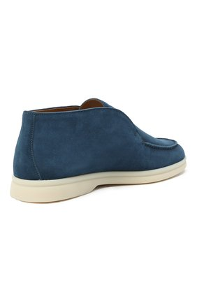 Женские замшевые ботинки open walk LORO PIANA синего цвета, арт. FAE9959   Фото 4