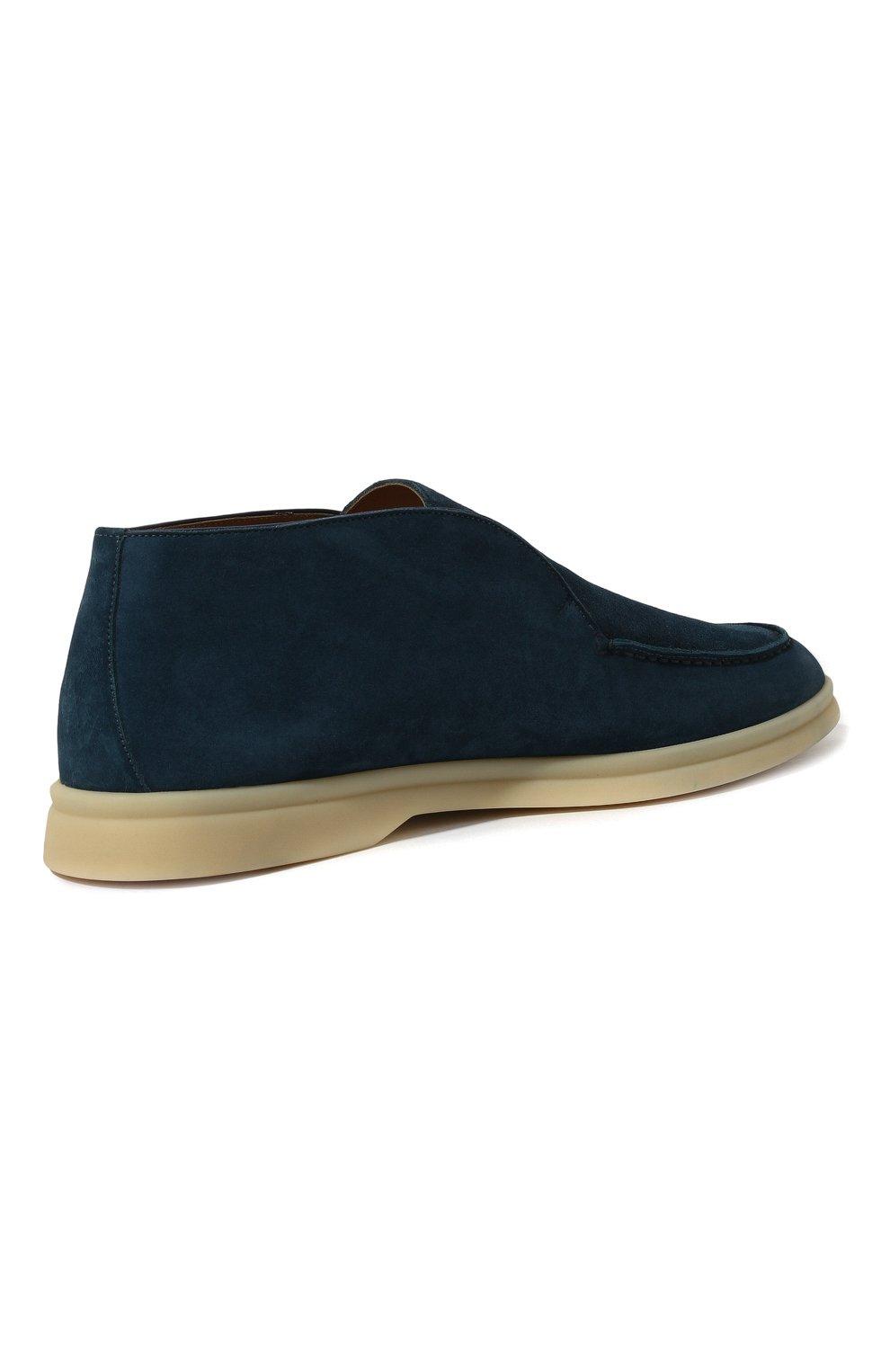 Женские замшевые ботинки open walk LORO PIANA синего цвета, арт. FAE9959   Фото 5