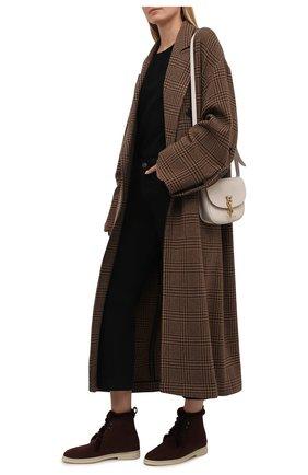 Женские замшевые ботинки ylvi walk LORO PIANA бордового цвета, арт. FAF9366 | Фото 2