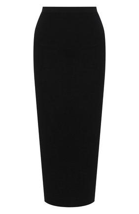 Женская шерстяная юбка THE ROW черного цвета, арт. 5308K323 | Фото 1