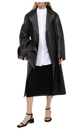 Женская шерстяная юбка THE ROW черного цвета, арт. 5308K323 | Фото 2
