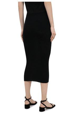 Женская шерстяная юбка THE ROW черного цвета, арт. 5308K323 | Фото 4