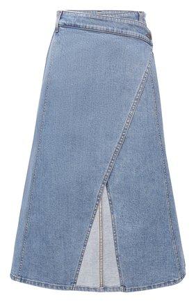 Женская джинсовая юбка STELLA MCCARTNEY синего цвета, арт. 602043/S0H21 | Фото 1