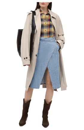Женская джинсовая юбка STELLA MCCARTNEY синего цвета, арт. 602043/S0H21 | Фото 2