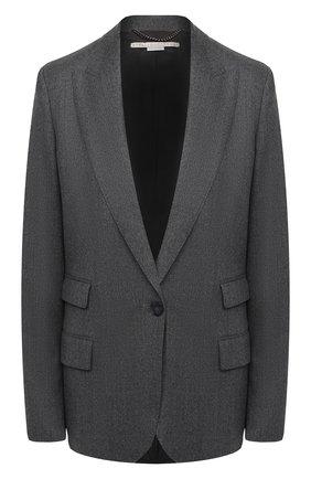 Женский шерстяной жакет STELLA MCCARTNEY серого цвета, арт. 602107/SNB53   Фото 1