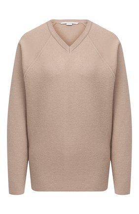 Женский шерстяной пуловер STELLA MCCARTNEY бежевого цвета, арт. 602190/S2221 | Фото 1