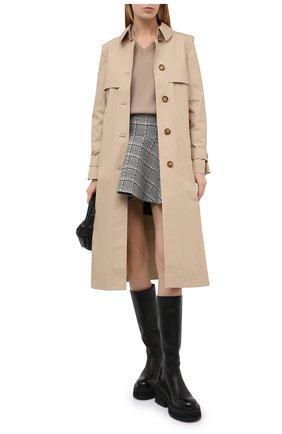 Женский шерстяной пуловер STELLA MCCARTNEY бежевого цвета, арт. 602190/S2221 | Фото 2