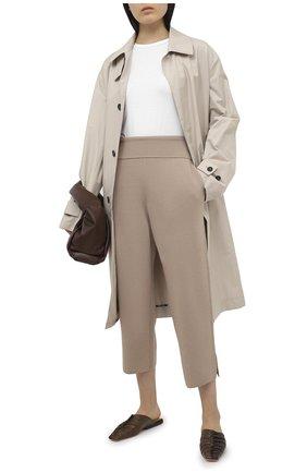 Женские шерстяные брюки STELLA MCCARTNEY бежевого цвета, арт. 602204/S2221 | Фото 2