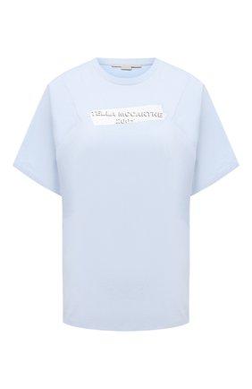 Женская хлопковая футболка STELLA MCCARTNEY голубого цвета, арт. 602395/S0W39 | Фото 1