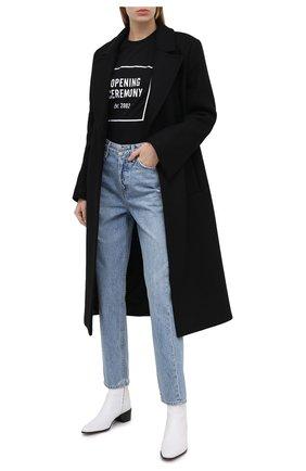 Женская хлопковая футболка OPENING CEREMONY черного цвета, арт. YWAA005E20JER001 | Фото 2