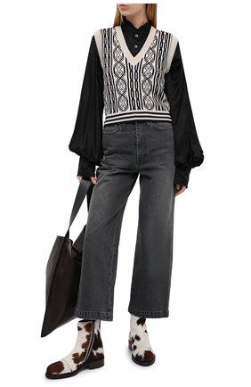 Женские кожаные ботинки ANN DEMEULEMEESTER коричневого цвета, арт. 2002-2804-P-358-060 | Фото 2