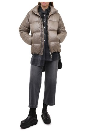 Женский пуховая куртка TANAKA бежевого цвета, арт. ST-42 | Фото 2