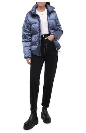 Женский пуховая куртка TANAKA синего цвета, арт. ST-42 | Фото 2