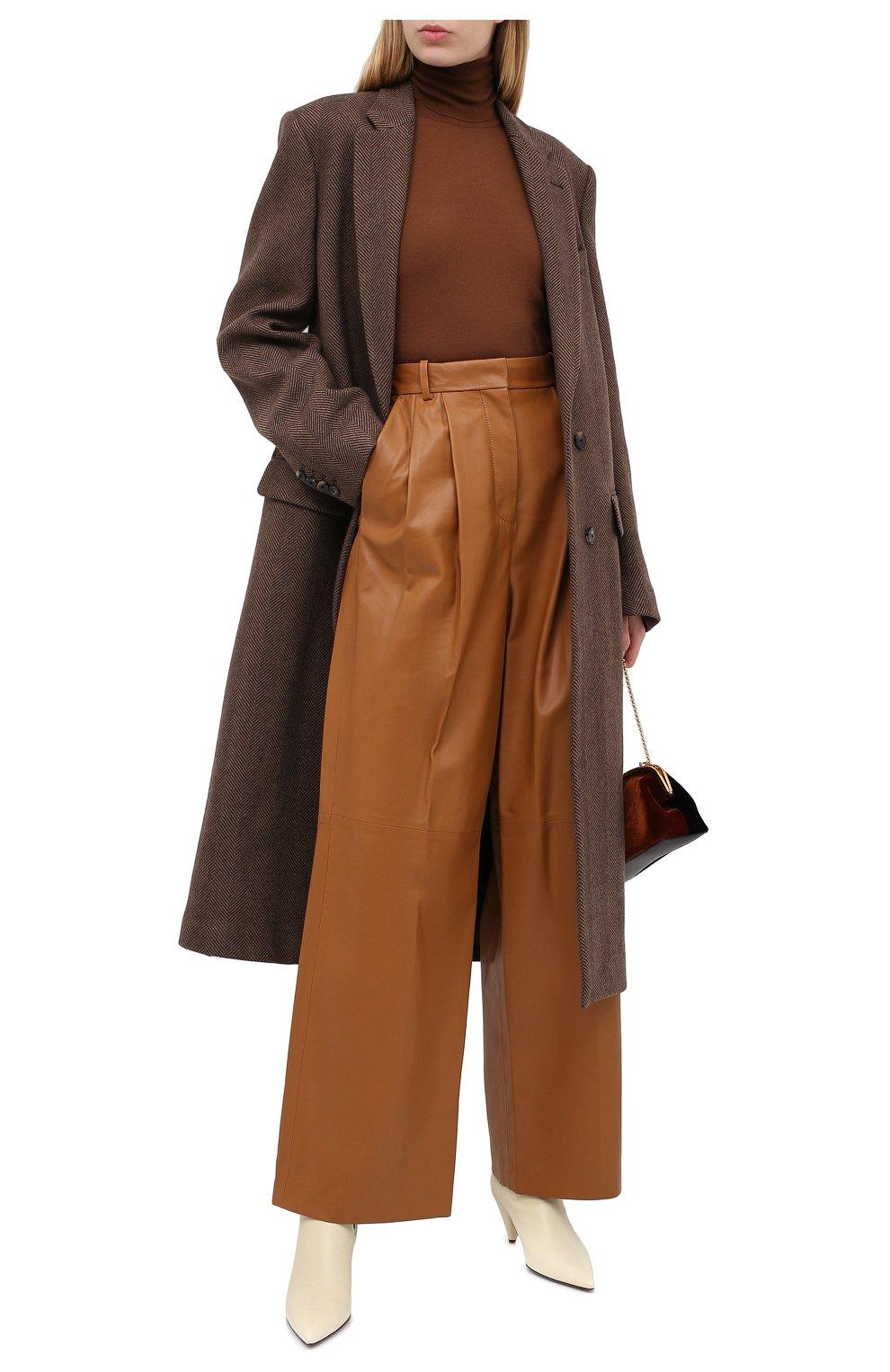 Женское шерстяное пальто DRIES VAN NOTEN коричневого цвета, арт. 202-10202-1035 | Фото 2