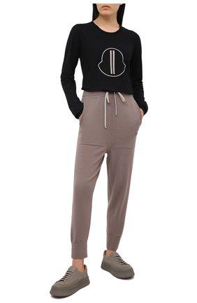 Женская хлопковый лонгслив rick owens + moncler RICK OWENS черного цвета, арт. MU20F0014/V8170 | Фото 2