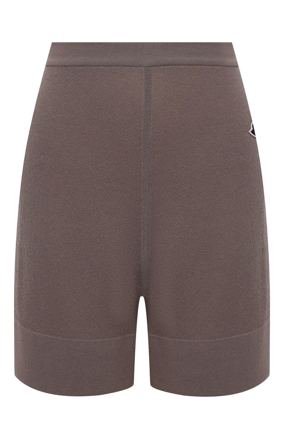 Женские шорты rick owens + moncler RICK OWENS серого цвета, арт. MU20F0019/A9454 | Фото 1 (Женское Кросс-КТ: Шорты-одежда; Материал внешний: Шерсть, Кашемир, Хлопок; Длина Ж (юбки, платья, шорты): Мини)