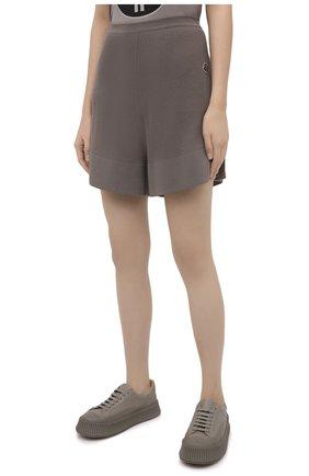 Женские шорты rick owens + moncler RICK OWENS серого цвета, арт. MU20F0019/A9454 | Фото 3 (Женское Кросс-КТ: Шорты-одежда; Материал внешний: Шерсть, Кашемир, Хлопок; Длина Ж (юбки, платья, шорты): Мини)