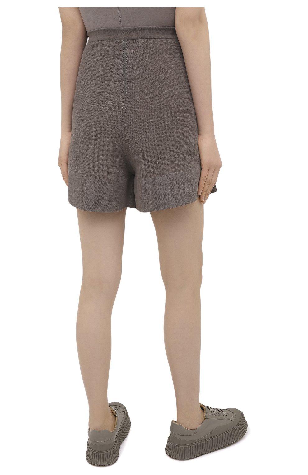 Женские шорты rick owens + moncler RICK OWENS серого цвета, арт. MU20F0019/A9454 | Фото 4 (Женское Кросс-КТ: Шорты-одежда; Материал внешний: Шерсть, Кашемир, Хлопок; Длина Ж (юбки, платья, шорты): Мини)