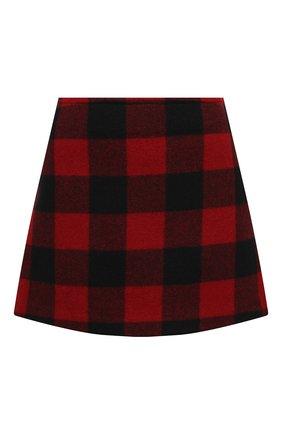 Женская шерстяная юбка DSQUARED2 красного цвета, арт. S72MA0818/S44496 | Фото 1