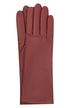 Женские кожаные перчатки AGNELLE бордового цвета, арт. CHRISTINA/C100 | Фото 1