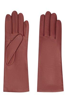 Женские кожаные перчатки AGNELLE бордового цвета, арт. CHRISTINA/C100 | Фото 2