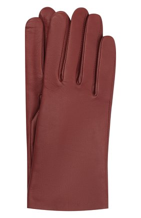 Женские кожаные перчатки AGNELLE бордового цвета, арт. INES/A | Фото 1